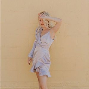 Delphine the label asymmetrical purple dress